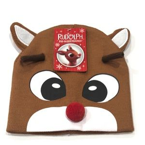 Other - Rudolph the Rednosed Reindeer Beanie Winter Hat